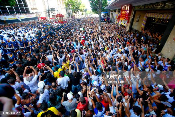 religion - our lady of nazareth celebrations in belem, brazil - sacrifice play stock pictures, royalty-free photos & images