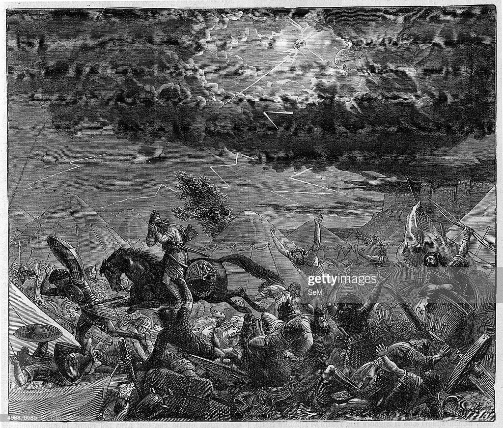 Image result for 185,000 assyrians dead in one night in the bible