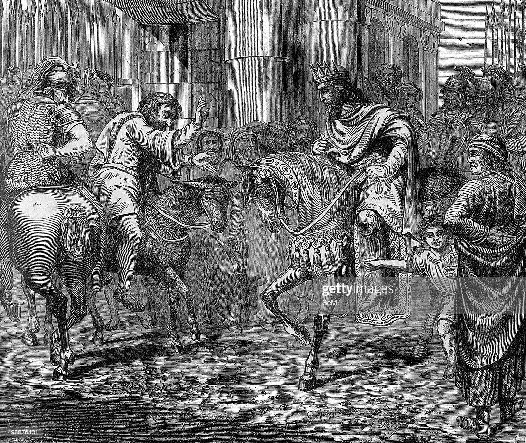 Religion The Holy Bible II Samuel When David Was A Fugitive Mephibosheths Servant