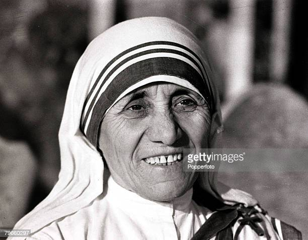 Religion/Care Work Rome Italy 6th January 1971 Mother Teresa of Calcutta picture on a visit to Rome