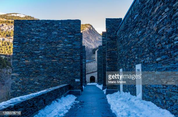 religious architecture in andorra - andorra la vella stock pictures, royalty-free photos & images