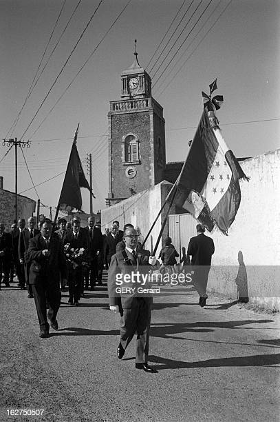Religious Ceremony In Memory Of Marshal Petain In The Yeu Island L'Ile d'Yeu en mai 1966 Messe commémorative en mémoire du maréchal Philippe PETAIN...