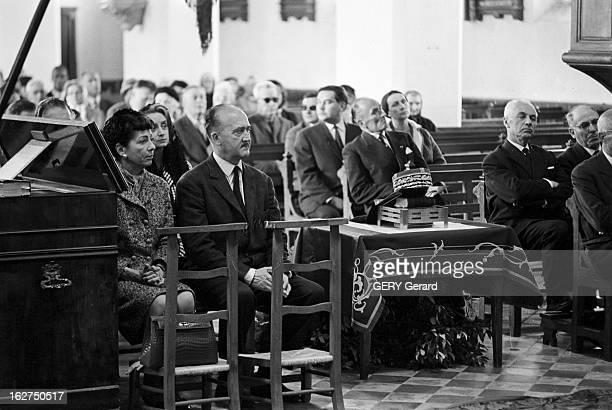 Religious Ceremony In Memory Of Marshal Petain In The Yeu Island L'Ile d'Yeu en mai 1966 Messe commémorative en mémoire du maréchal Philippe PETAIN...