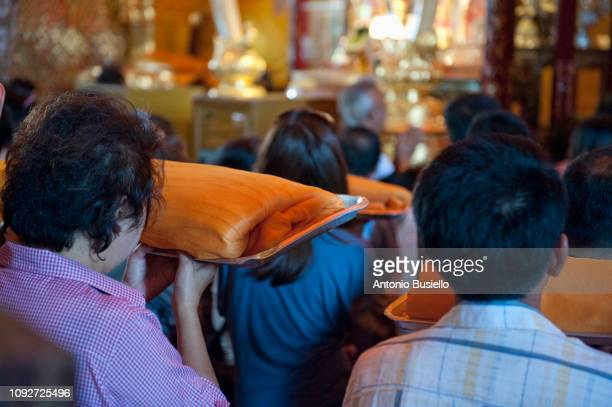 religious ceremony in thailand - religious event stock pictures, royalty-free photos & images