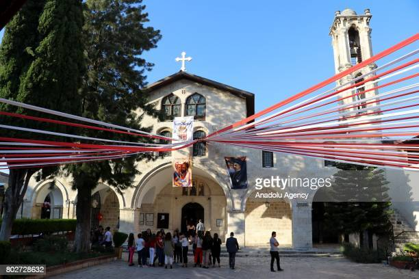 A religious ceremony is held at the Antiochian Orthodox Church to mark the Feast of Saints Peter and Paul in Antakya district of Turkey's Hatay on...