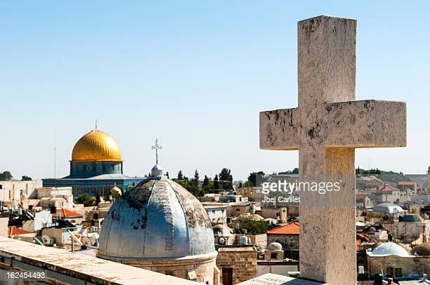 religious diversity in jerusalem - christianity and islam - jerusalem old city stock pictures, royalty-free photos & images