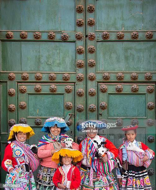 religious festival - provinz cusco stock-fotos und bilder