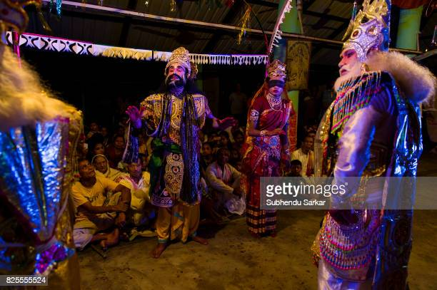 MAJULI JORHAT ASSAM INDIA A religious folk drama being performed Majuli is the center of neoVaishnavite culture in Assam The Institution of Satra was...