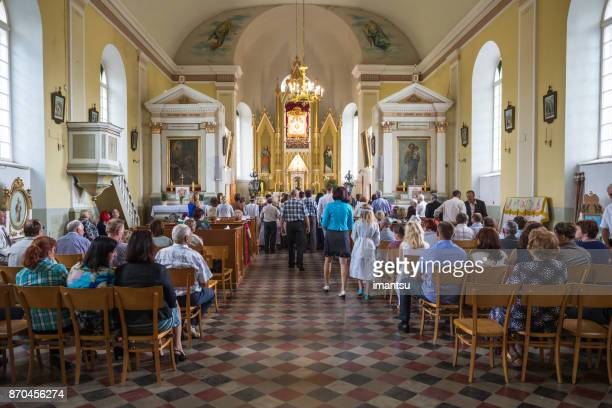religious grave festival in the latvian region of latgale - pastor stock pictures, royalty-free photos & images