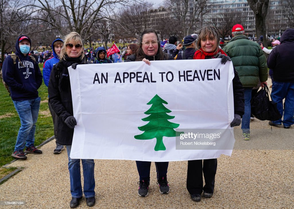 """Trump Supporters Hold """"Stop The Steal"""" Rally In DC Amid Ratification Of Presidential Election : Nachrichtenfoto"""