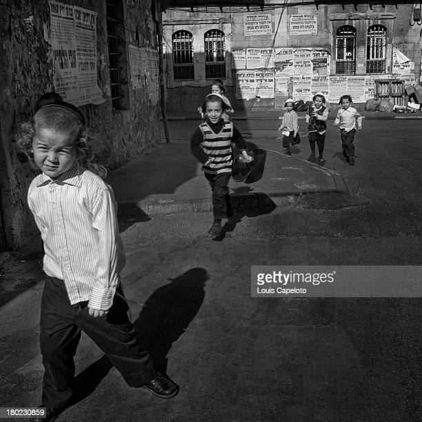 CONTENT] Religious hassidic and Breslev children in the ultra Orthodox area of Mea Shearim a step back in time where children still play outside not...