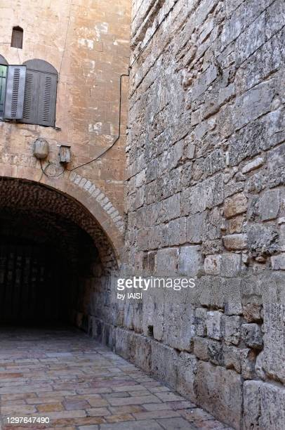 religious icons and symbols, the little wall in the old city of jerusalem - holy city park stock pictures, royalty-free photos & images
