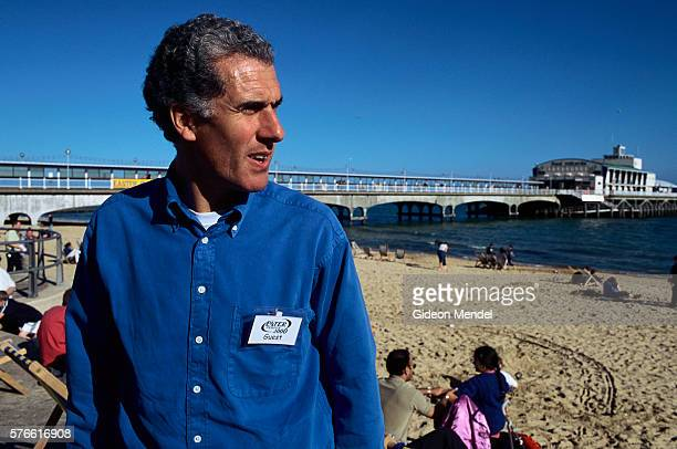 religious leader nicky gumbel on beach in bournemouth - utc−10:00 stock pictures, royalty-free photos & images