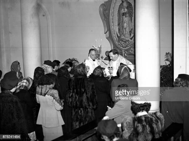 Religious mass at the Vatican in the occasion of a Mexican pilgrimage 1949