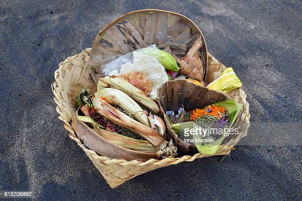 Religious Offerings on the beach of Bali