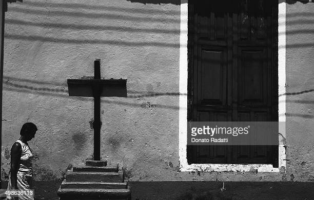 Religious paths, between the streets of the small of Cuban city.