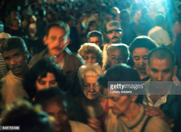 Religious people are seen making a pilgrimage to San Lazaro's Church in Santiago de las Vegas Havana province Cuba on Dec 17 1999