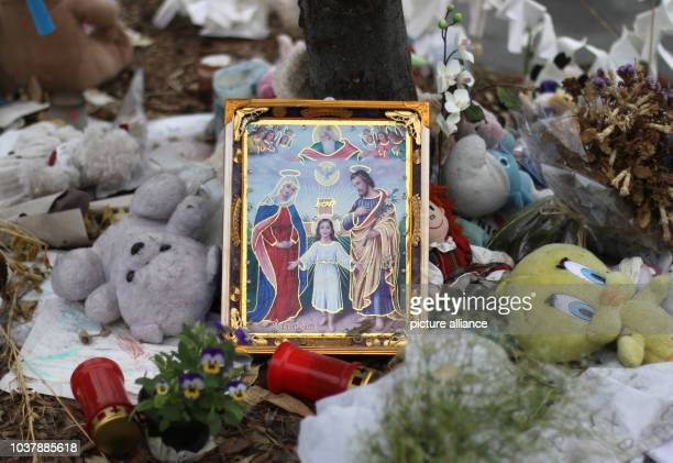 A religious picture can be seen on the 'Promenade des Anglais' in Nice France 14 September 2016 A 31yearold Tunisian man had driven into a crowd on...