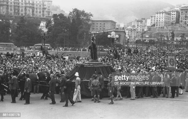 Religious procession at the Sea Ceremony June 22 Genoa Italy 20th century