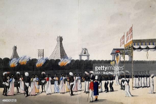 Religious procession in Trankebar India 18th century