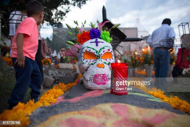 Religious ritual of day of the dead celebrations.