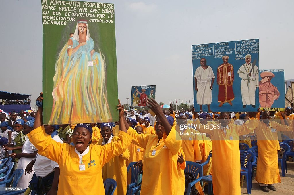 Religious singers join crowds of spectators attending the 50th anniversary parade marking the independence of the Democratic Republic of Congo on June 30, 2010 in Kinshasa, Democratic Repuplic of Congo. King Albert II of Belgium and Queen Paola of Belgium are on a 3 day state visit and and as guests of the 50th anniversary celebrations.