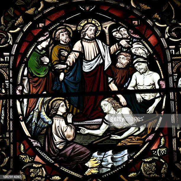 religious stained glass - easter religious stock pictures, royalty-free photos & images