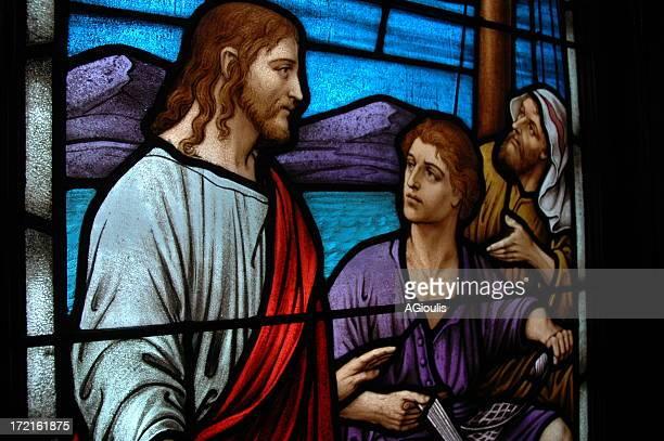 ステンドグラスの窓 - 使徒 ストックフォトと画像