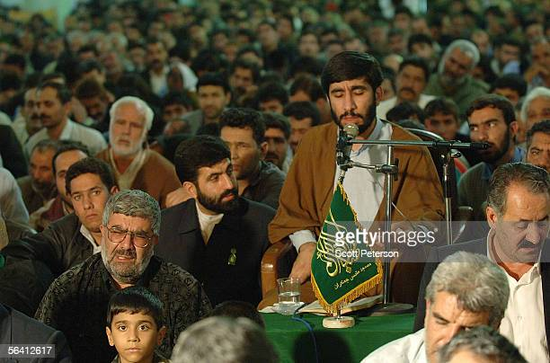 A religious storyteller Mahdi Salahshur speaks at the Jamkaran Mosque December 6 2005 in Jamkaran Iran Some Iranian Shiites believe and are waiting...