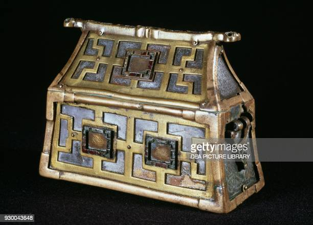 Reliquary brought from the British Isles to Denmark after a Viking looting 8th century