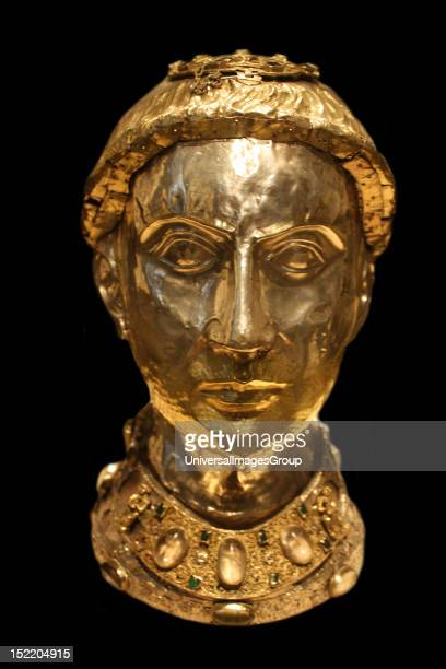 Reliquary Bust of Saint Yrieix Silver and gilded silver with rock crystal gems and glass French Limoges from the Church of SaintYrieixlaPerche Made...