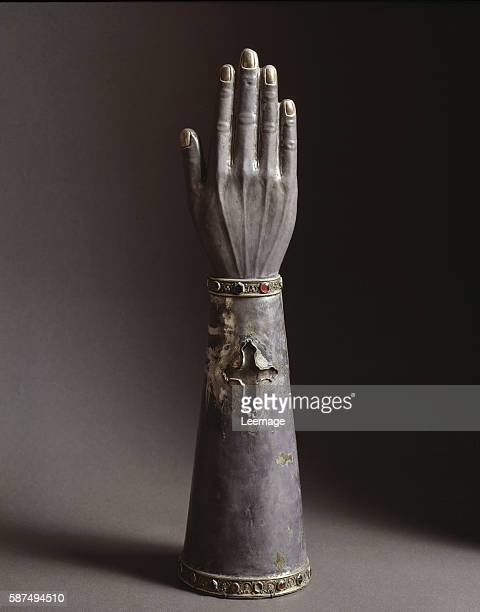 Reliquary in the shape of an arm and hand Museo del Tesoro del Duomo Veroli Italy