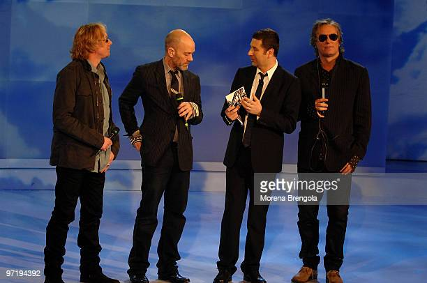 Rem during the Italian tv show 'Che tempo che fa' on March 16 2008 in Milan Italy