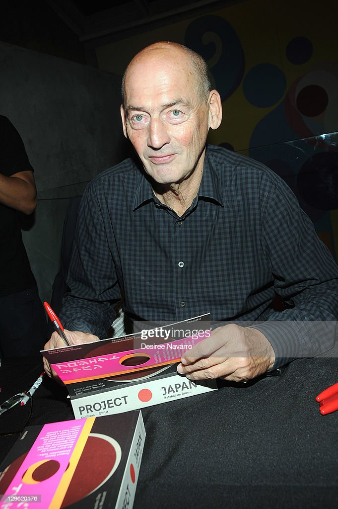 "Rem Koolhaas Signs Copies Of ""Project Japan Metabolism Talks"""