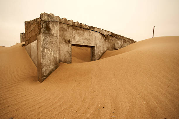 Remainings of a colonial Portuguese house at the abandoned village of Ilha dos Tigres, Angola