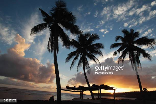 Remains of a beachfront fale are seen on September 30 2010 in Aufaga Samoa 189 people were killed and hundreds more injured in Samoa American Samoa...