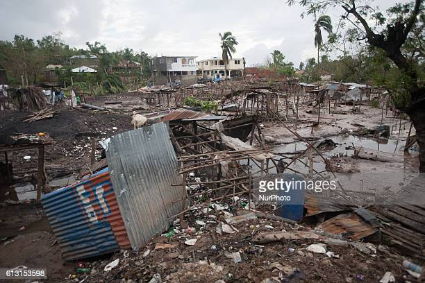 Remains of a market in a small town called Kanyon in SouthWest of Haiti after hurricane Matthew devastated the area The streets of Kanyon ore flooded...