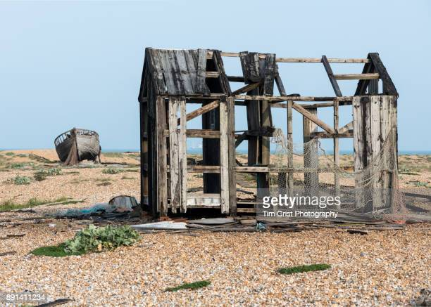 Remains of an Old Wooden Fishing Hut, Dungeness