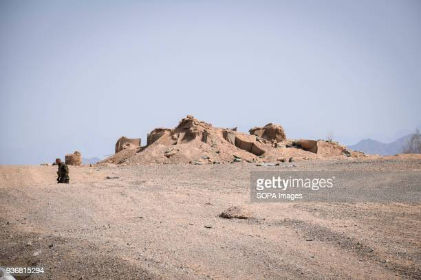 FARAH AFGHANISTAN Remains of an outpost of the Afghan National Police just off the main road in Bolo Bluk district Farah province According to Afghan...