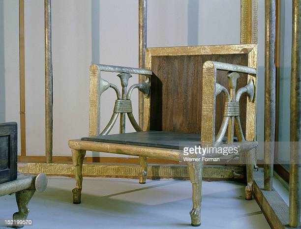 Remains of furniture found in the Giza tomb of Hetep heres I the chief queen of Sneferu and mother of Khufu included a bed a bed canopy a curtain box...