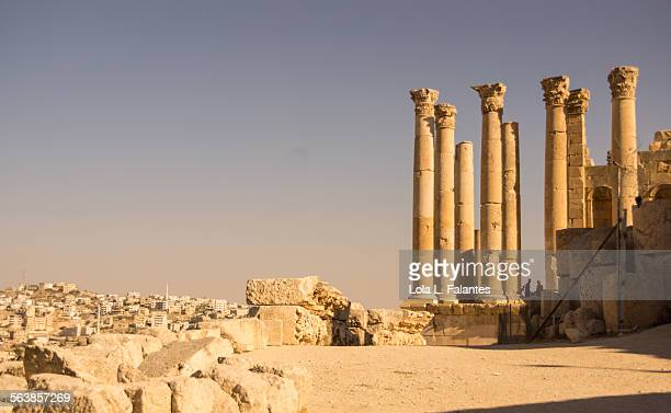 remains of jerash - roman decapolis city stock pictures, royalty-free photos & images