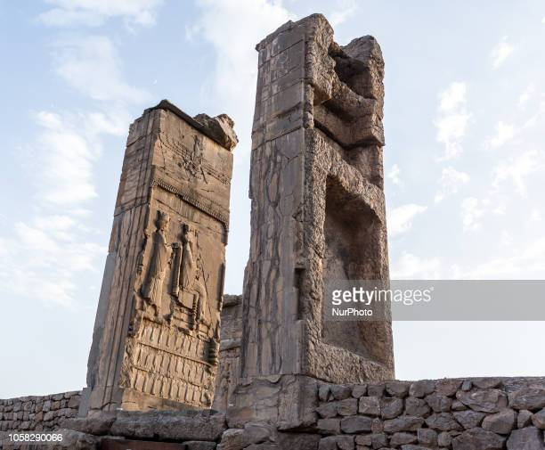 Remains of Persepolis, the ceremonial capital of ancient Achaemenic Empire built by Darius I in sixth century B.C. On September 15 Iran. Persepolis...