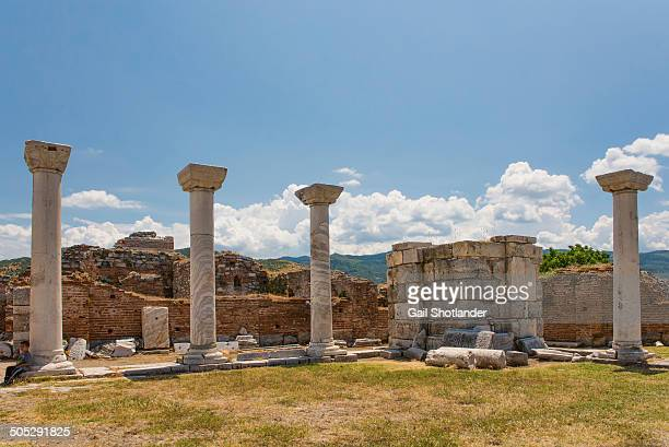 remains of the basilica of st. john - circa 6th century stock photos and pictures