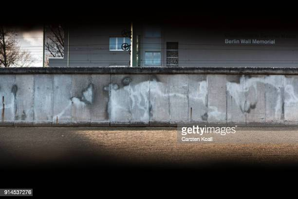 Remains of the border wall at the Berlin Wall memorial at Bernauer Strasse on February 5 2018 in Berlin Germany Today has been 10316 days since the...