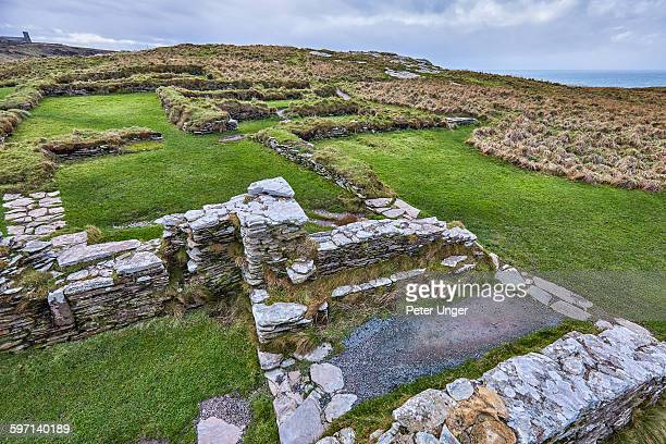 remains of the Dark Age settlement at Tintagel