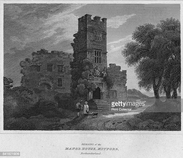 Remains of the North House Mitford Northumberland' 1814 From The Border Antiquities of England and Scotland Vol II by Walter Scott Esq [Longman Co...