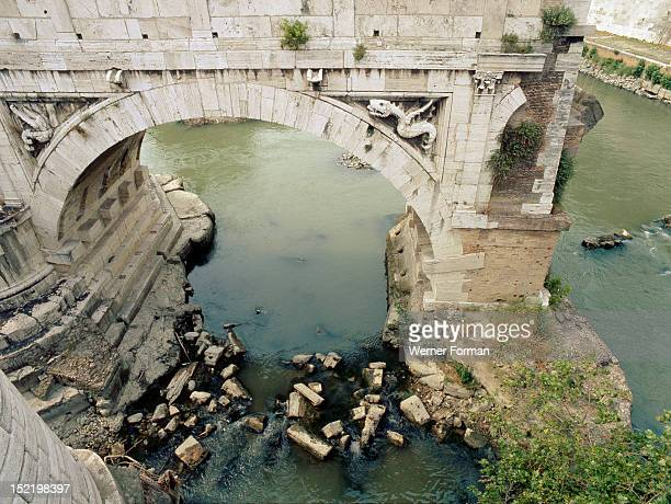 Remains of the Pons Aemilius the oldest stone bridge across the river Tiber Initially constructed in 179 BC it is also known as Ponte Rotto or...