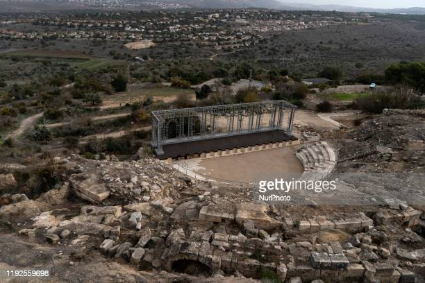 Remains of the Roman theater which are preserved in the archaeological sites of Sephoris on 10 December 2019 It interests archaeologists for their...