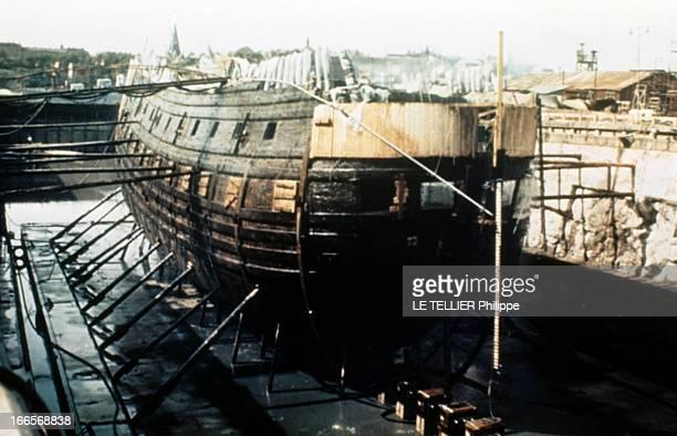 Remains Of The Swedish Ship ' Le Vasa'. En Suède à Stockholm, le vaisseau 'Le Vasa', datant du XVIIème siècle, en cale sèche pour restauration.
