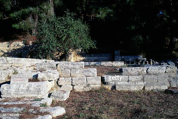 Remains of the Treasury of the Megarians Olympia Greece Greek civilisation 6th century BC